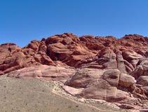 утес красного цвета образований Стоковая Фотография