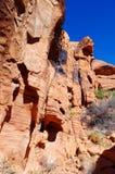 утес красного цвета парка Невады каньона национальный Стоковая Фотография