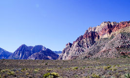 утес красного цвета парка Невады каньона национальный Стоковая Фотография RF