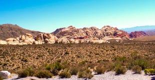 утес красного цвета парка Невады каньона национальный Стоковое фото RF