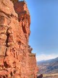 утес красного цвета скалы Стоковое Изображение