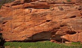 утес красного цвета скал Стоковое фото RF