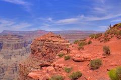 утес красного цвета hdr каньона грандиозный Стоковое Изображение