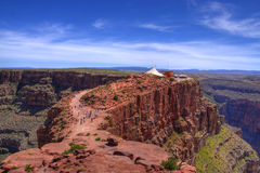 утес красного цвета hdr каньона грандиозный Стоковая Фотография