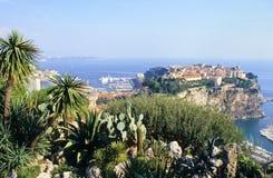 утес Монако стоковые фотографии rf