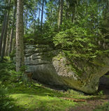 утес национального парка пущи Стоковое Изображение