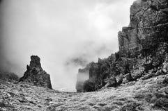 утес на горе Стоковая Фотография