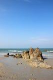 Утес на пляже Стоковые Фотографии RF