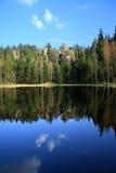 утес озера пущи Стоковая Фотография