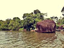 Утес озера Bentota стоковые изображения