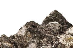 Утес от скалы , изолированная белая предпосылка стоковые фото