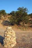 утес пирамиды из камней Стоковые Изображения RF