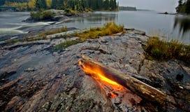 утес пожара Канады северный Стоковое Фото