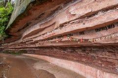 Утес поддержки отверстия Xian Yu живописной местности моря Сычуань южный Сычуань бамбуковый Стоковые Фото