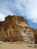 утес скал algarve цветастый Стоковая Фотография