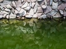 Утес стены отраженный в воде Стоковые Изображения