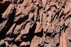 Утес сухой лавы базальтовый Стоковые Изображения