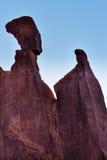 Утес ферзя Nefertiti сгабривает национальный парк Moab Юту Стоковые Изображения RF