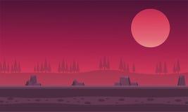 Утес холмов ландшафта для игры предпосылок Стоковая Фотография