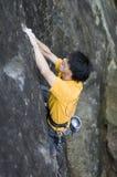 утес японца альпиниста Стоковые Изображения RF