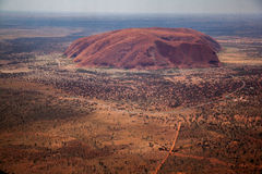 Утес Ayers от воздуха стоковое фото