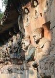 утес dazu chongqing carvings Стоковые Фотографии RF