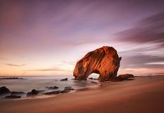 Утес Guincho в Santa Cruz, Португалии Стоковое Изображение