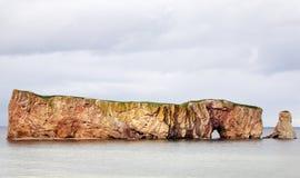 Утес Perce, Квебек, Канада Стоковое фото RF