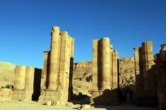 утес petra Иордана города потерянный Стоковые Фотографии RF
