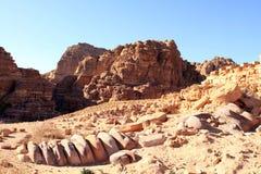 утес petra Иордана города потерянный Стоковые Изображения RF