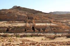утес petra Иордана города потерянный Стоковое Изображение