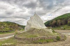 Утес Piatra соли Alba в графстве Buzau Стоковое Фото