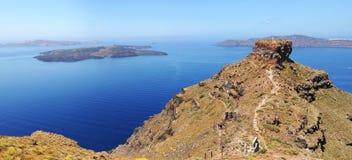 Утес Skaros в Santorini Стоковые Фотографии RF