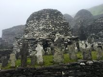 Утес skellig Skellig Майкл, Ирландия Стоковое Фото