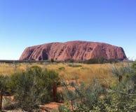 Утес Uluru Ayers Стоковые Фотографии RF