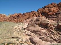 утес vegas гор las каньона красный Стоковое Изображение