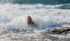 Утеха в пене моря Стоковое Изображение RF
