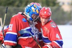 Утеха в хоккее шарика Стоковое фото RF