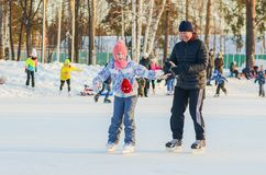 Утеха зимы skating стоковые изображения rf