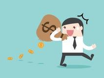 Утечка денег утечки траты НАЛОГА Стоковое Изображение RF