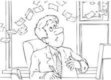 утечка капитала Иллюстрация штока