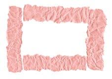 Утили розовой бумаги на белой предпосылке r Готовая рамка для дизайна, шаблона стоковые фото