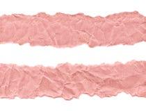 Утили розовой бумаги на белой предпосылке r Готовая рамка для дизайна, шаблона стоковое фото rf