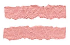 Утили розовой бумаги на белой предпосылке r Готовая рамка для дизайна, шаблона стоковая фотография