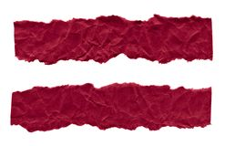Утили темного - красная бумага на белой предпосылке r r стоковое фото rf