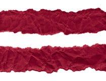 Утили темного - красная бумага на белой предпосылке r r стоковое фото