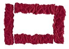 Утили темного - красная бумага на белой предпосылке r r стоковая фотография