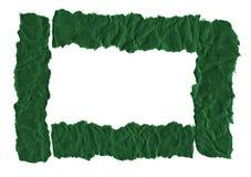 Утили темной ой-зелен бумаги на белой предпосылке r Готовая рамка для дизайна, шаблона стоковые фотографии rf