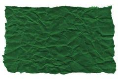 Утили темной ой-зелен бумаги на белой предпосылке r Готовая рамка для дизайна, шаблона стоковое изображение rf