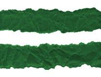 Утили темной ой-зелен бумаги на белой предпосылке r Готовая рамка для дизайна, шаблона стоковая фотография